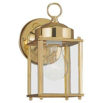 Brass & Gold – Sea Gull Lighting – Outdoor Wall Mounted Lighting Within Brass Outdoor Lanterns (#6 of 15)