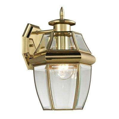 Brass & Gold – Special Values – Outdoor Wall Mounted Lighting Inside Gold Outdoor Lanterns (#5 of 15)