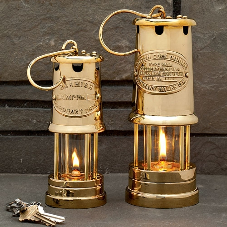 Brass Table Top Oil Lamps In Two Sizes – Garrett Wade Pertaining To Outdoor Oil Lanterns (View 4 of 15)