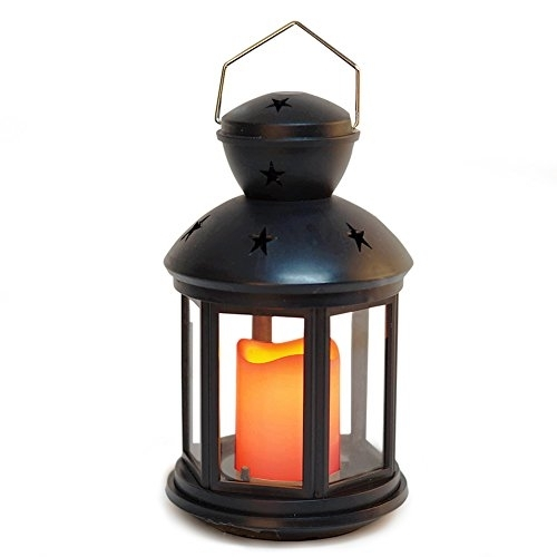 Bright Zeal Hexagon Candle Lantern With Led Flameless Candles Regarding Outdoor Timer Lanterns (#4 of 15)