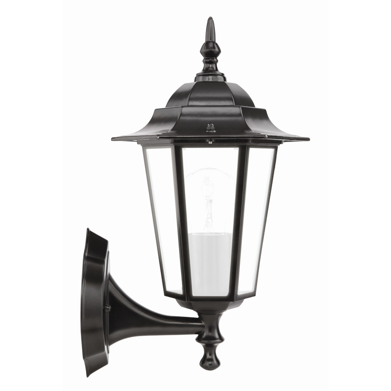 Brilliant 60w Nottingham Black Coach Exterior Wall Light | Bunnings With Outdoor Lanterns At Bunnings (View 3 of 15)