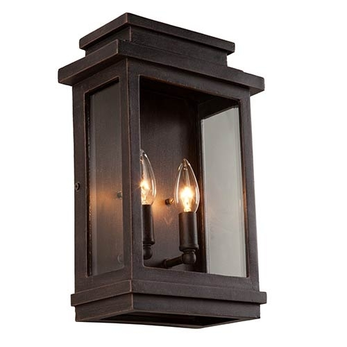 Bronze Oil Rubbed Outdoor Wall Lighting | Bellacor With Outdoor Wall Lanterns (View 15 of 15)
