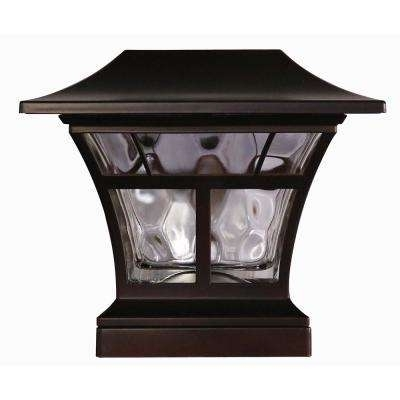 Bronze – Post Lighting – Outdoor Lighting – The Home Depot Pertaining To Outdoor Lanterns For Pillars (View 9 of 15)
