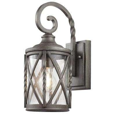 Brushed Nickel / Chrome & Pewter – Outdoor Lanterns & Sconces For Outdoor Lanterns And Sconces (View 14 of 15)