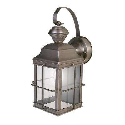 Brushed Nickel – Outdoor Wall Mounted Lighting – Outdoor Lighting In Nickel Outdoor Lanterns (View 14 of 15)