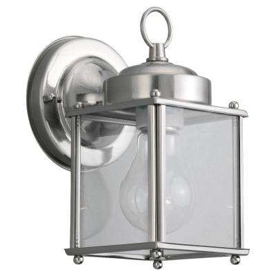 Brushed Nickel – Outdoor Wall Mounted Lighting – Outdoor Lighting Inside Silver Outdoor Lanterns (#3 of 15)