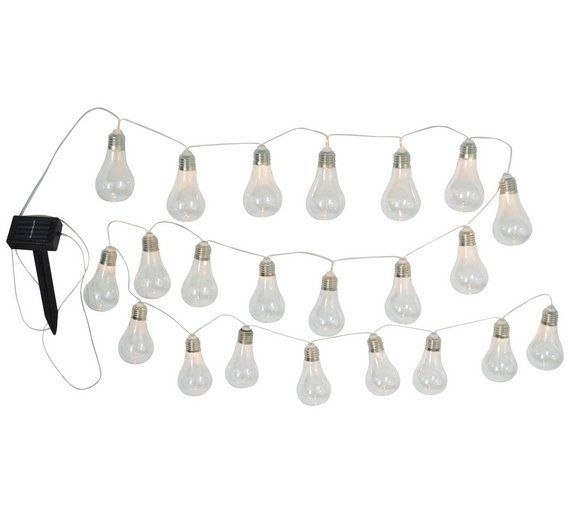 Buy Home Solar Powered Bulb String Lights – Set Of 20 At Argos.co (View 12 of 15)