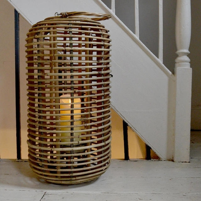 Buy Tall Natural Rattan Lantern — The Worm That Turned With Outdoor Rattan Lanterns (View 9 of 15)
