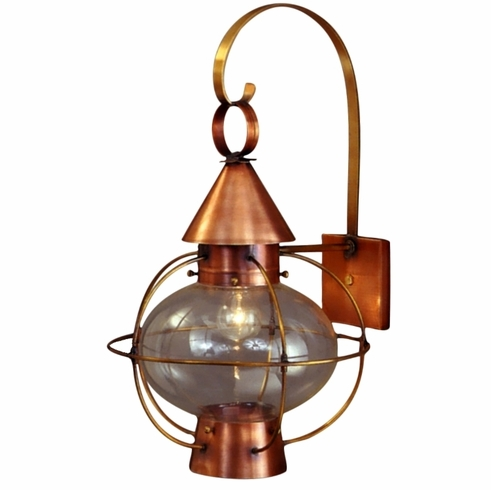 Cape Cod Onion Lantern Copper Wall Light Nautical Rustic With Outdoor Lighting Onion Lanterns (View 4 of 15)
