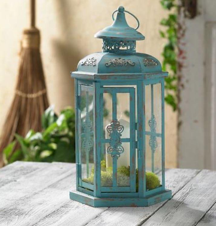 Chalk Paint Indoor/outdoor Metal Lantern   Home Decor With Joann With Regard To Outdoor Bronze Lanterns (View 4 of 15)