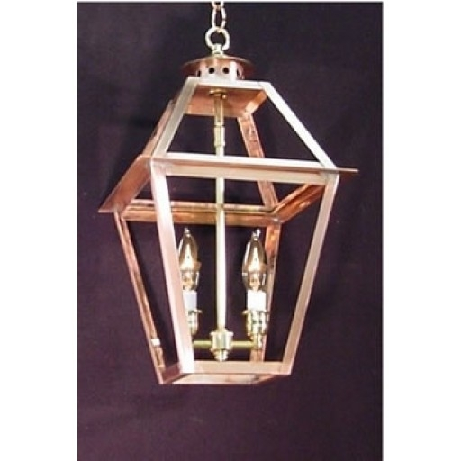 Charleston Chain Mount Copper Lantern – French Market Gas & Electric Pertaining To Copper Outdoor Lanterns (View 5 of 15)