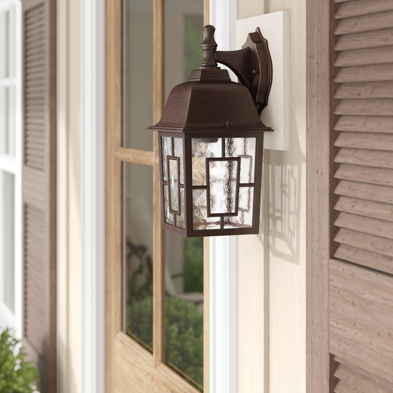Charlton Home Timmons 1 Light Outdoor Wall Lantern & Reviews | Wayfair Throughout Outdoor Vinyl Lanterns (View 13 of 15)