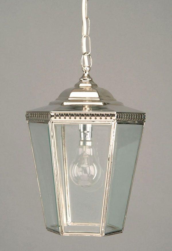 Chelsea Period Hanging Outdoor Porch Lantern Nickel | Lighting For Nickel Outdoor Lanterns (View 10 of 15)