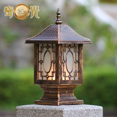 Chinese Traditional Lantern Decorative Aluminum Spotlight Fitting For Outdoor Lanterns For Pillars (View 7 of 15)