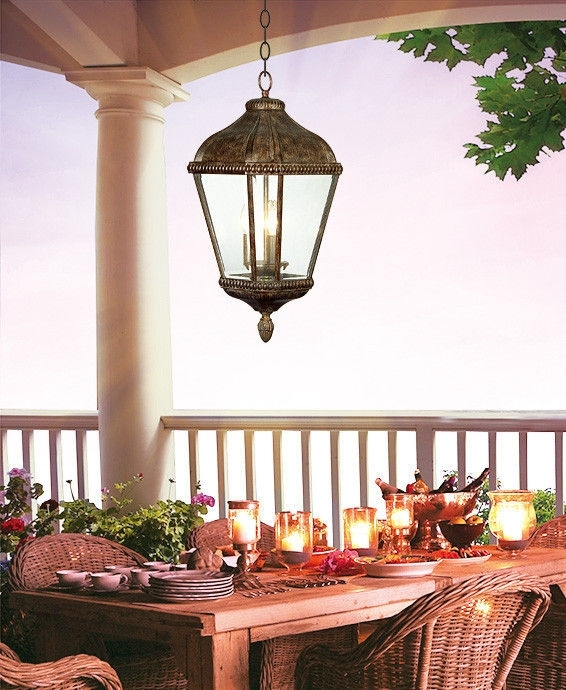 Popular Photo of Outdoor Patio Electric Lanterns