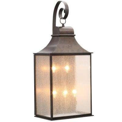 Clearance – Outdoor Lanterns & Sconces – Outdoor Wall Mounted With Regard To Home Depot Outdoor Lanterns (View 15 of 15)