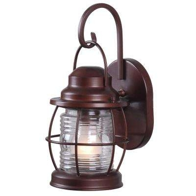 Coastal/nautical – Outdoor Lighting – Lighting – The Home Depot Pertaining To Outdoor Nautical Lanterns (View 2 of 15)
