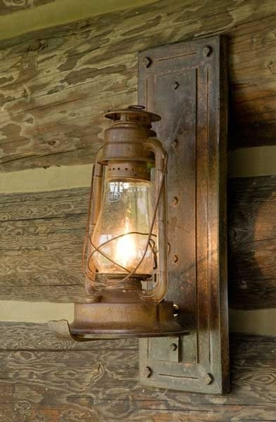 Popular Photo of Rustic Outdoor Electric Lanterns