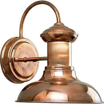 Copper – Hardwired – Outdoor Lanterns & Sconces – Outdoor Wall Pertaining To Copper Outdoor Lanterns (View 2 of 15)