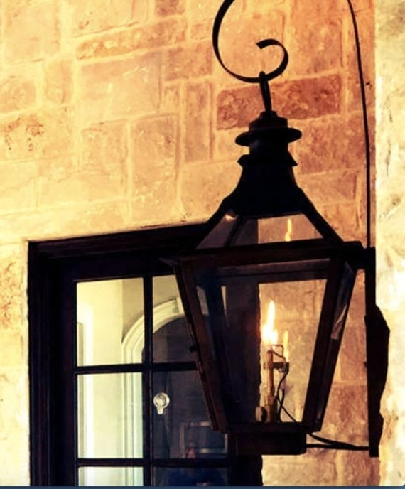Copper Lantern Pendant Light Copper Light Fixture Rustic | Etsy Intended For Etsy Outdoor Lanterns (View 9 of 15)