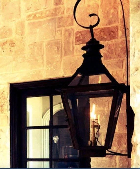 Copper Lantern Pendant Light Copper Light Fixture Rustic | Etsy Intended For Etsy Outdoor Lanterns (#3 of 15)