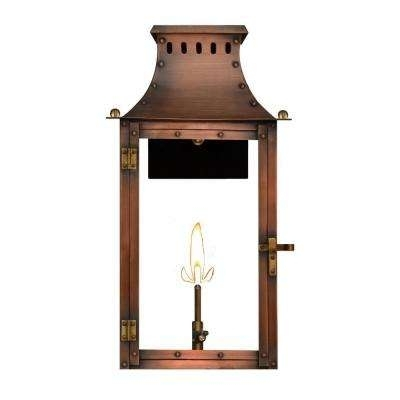 Copper – Natural Gas – Outdoor Wall Mounted Lighting – Outdoor With Copper Outdoor Lanterns (View 9 of 15)