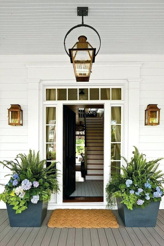 Copper Porch Light Front Porch Lighting Ideas Exterior Porch Light Within Outdoor Door Lanterns (View 14 of 15)