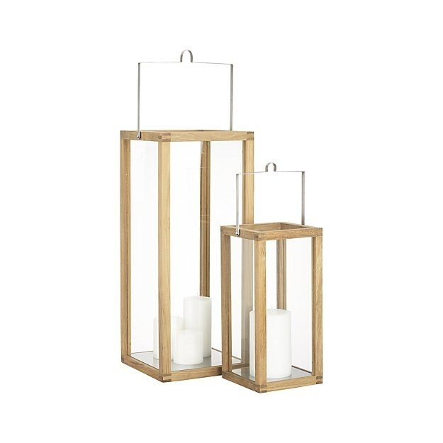 Crosby Teak Wood Lanterns | Patio Decor | Pinterest | Crates Regarding Outdoor Teak Lanterns (View 14 of 15)