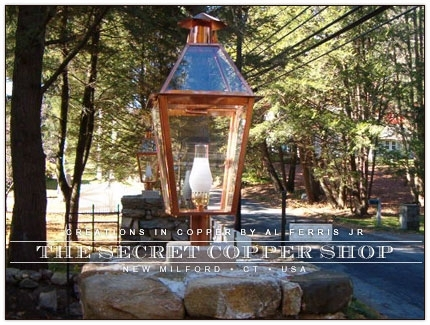 Custom Copper Lanterns And Lighting | Copper Lights | Post Lamps In Outdoor Post Lanterns (View 11 of 15)