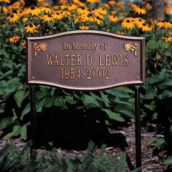 Custom Outdoor Memorial Plaques Regarding Outdoor Memorial Lanterns (View 14 of 15)