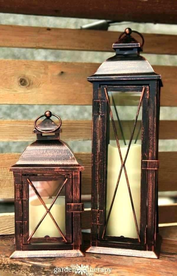 Decoration: Outdoor Patio Table Lanterns Lamp Porch Lamps Floor Best Regarding Outdoor Table Lanterns (View 4 of 15)