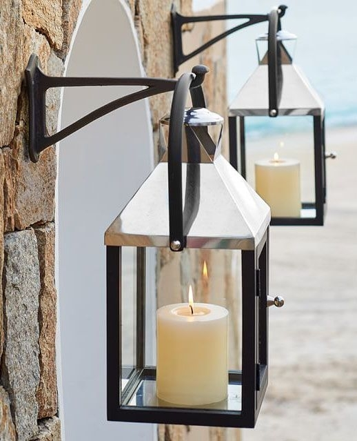 Inspiration about Decorative Candle Lanterns Large Wood Rustic Outdoor Candle Lantern Within Outdoor Rustic Lanterns (#15 of 15)