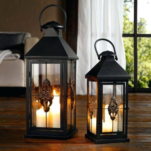 Inspiration about Decorative Candle Lanterns Large Wood Rustic Outdoor Extra Intended For Outdoor Candle Lanterns For Patio (#8 of 15)
