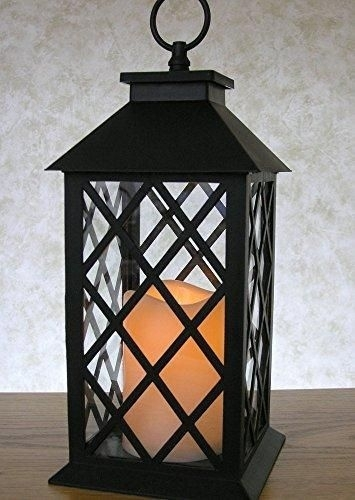 Inspiration about Decorative Lanterns – Black Lantern With Led Pillar Candle And A 5 Within Outdoor Timer Lanterns (#10 of 15)