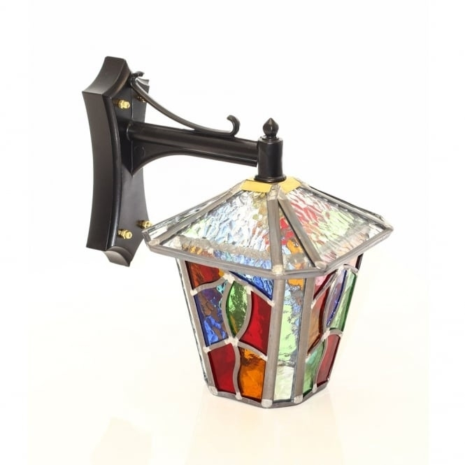 Inspiration about Decorative Multi Coloured Stain Glass Outdoor Wall Lantern With Regard To Outdoor Glass Lanterns (#7 of 15)