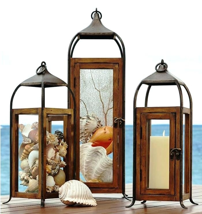 Inspiration about Decorative Outdoor Lanterns Cliff Wood And Metal Lanterns Battery With Regard To Metal Outdoor Lanterns (#1 of 15)