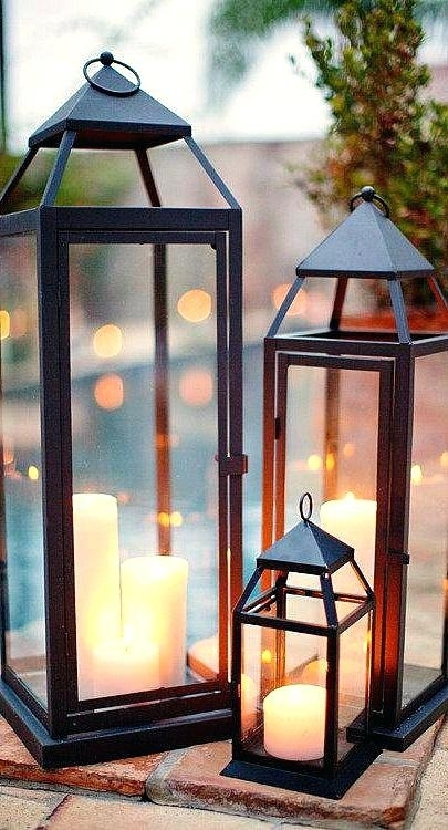 Decorative Outdoor Lanterns For Candles Backyard Lanterns Candle Regarding Outdoor Lanterns With Candles (View 15 of 15)