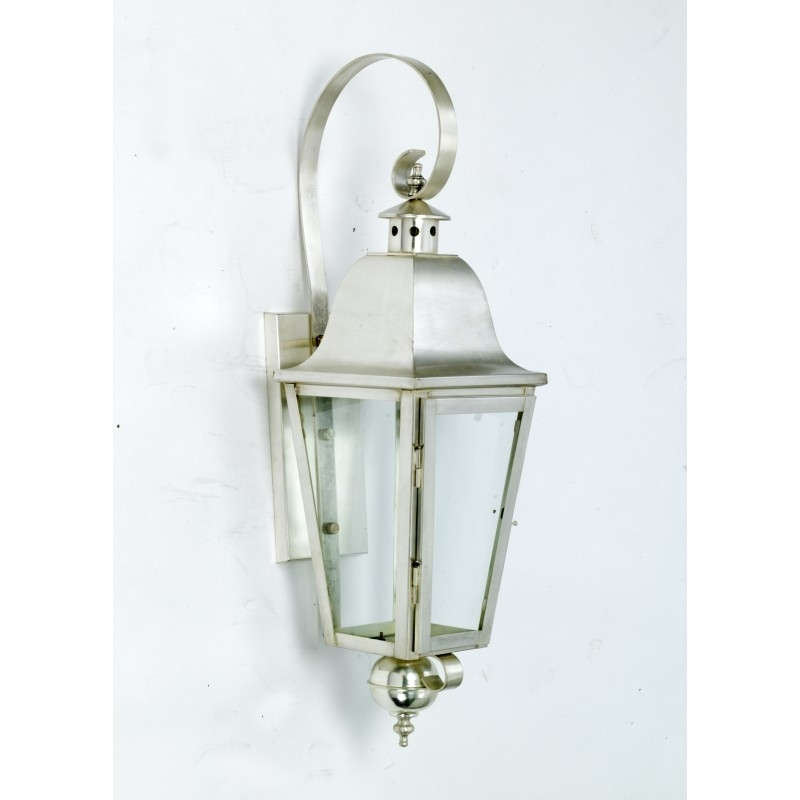 Devonshire Antique Silver Wall Lantern – Wall Lanterns (Flush Fit For Silver Outdoor Lanterns (#5 of 15)