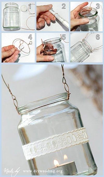 Inspiration about Diy Mason Jar Lanterns For Outdoor Garden Lights | Diy For The Throughout Outdoor Jar Lanterns (#6 of 15)