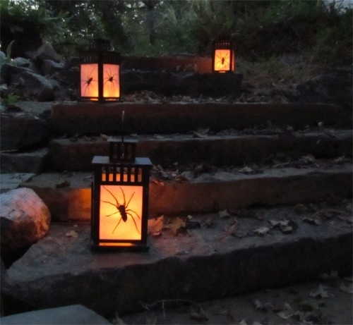 Inspiration about Diy Outdoor Halloween Lanterns With Spiders Inside – Shelterness Throughout Outdoor Halloween Lanterns (#1 of 15)