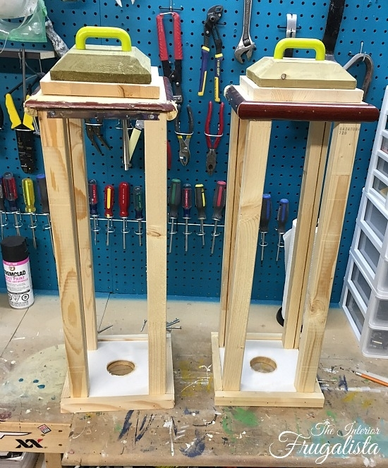 Diy Outdoor Holiday Lanterns | The Interior Frugalista Intended For Outdoor Wood Lanterns (#3 of 15)