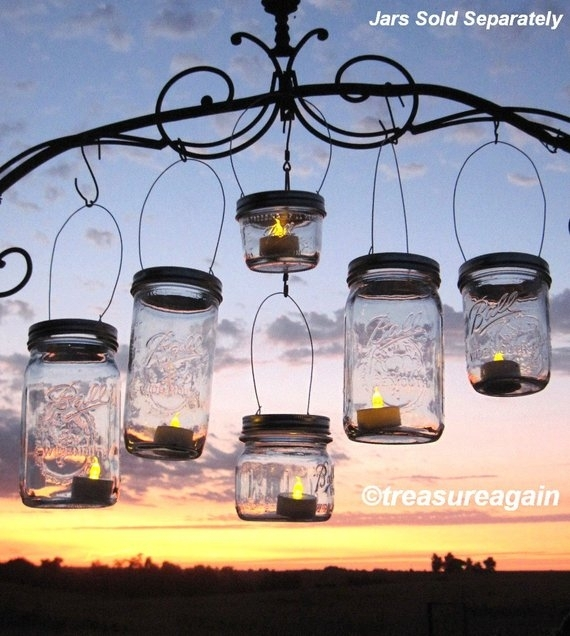 Inspiration about Diy Party Lanterns 12 Wide Mason Jar Hangers For Wedding | Etsy With Etsy Outdoor Lanterns (#7 of 15)
