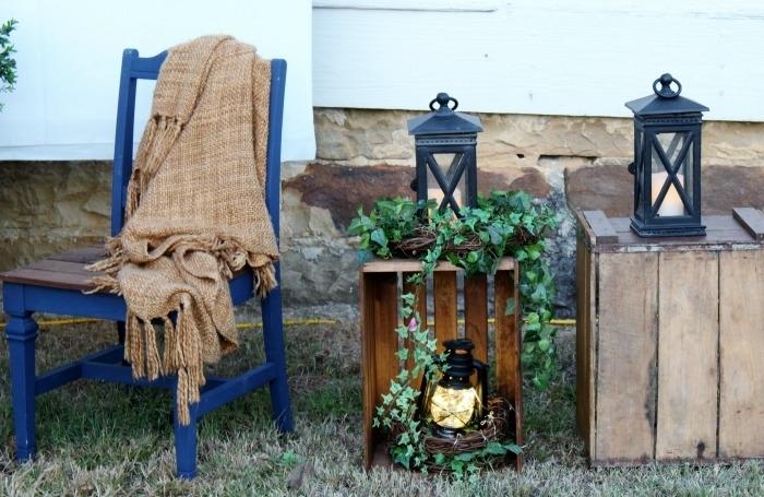 Diy Wedding Decorations | Crates & Lanterns For Outdoor Wedding Inside Outdoor Wood Lanterns (#5 of 15)