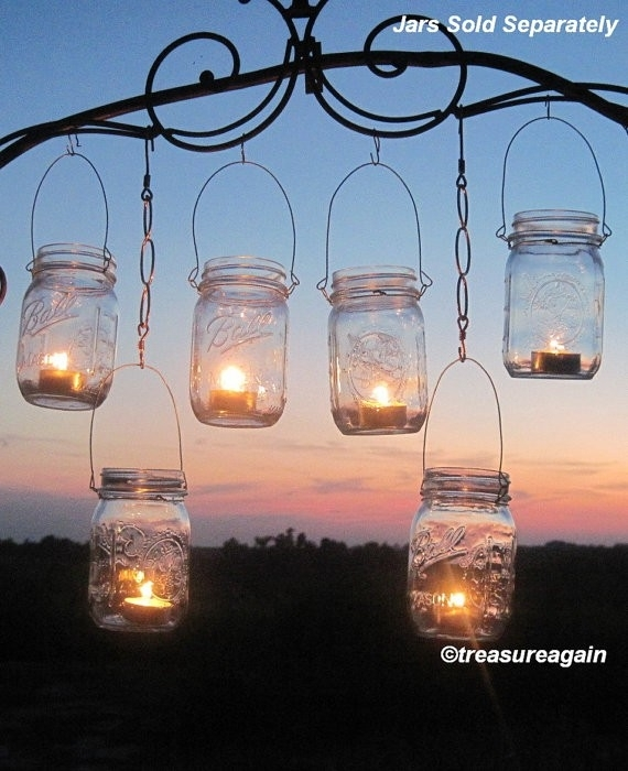 Inspiration about Diy Wedding Mason Jars Lanterns Hangers 6 Diy Outdoor Party Hanging Throughout Outdoor Jar Lanterns (#14 of 15)