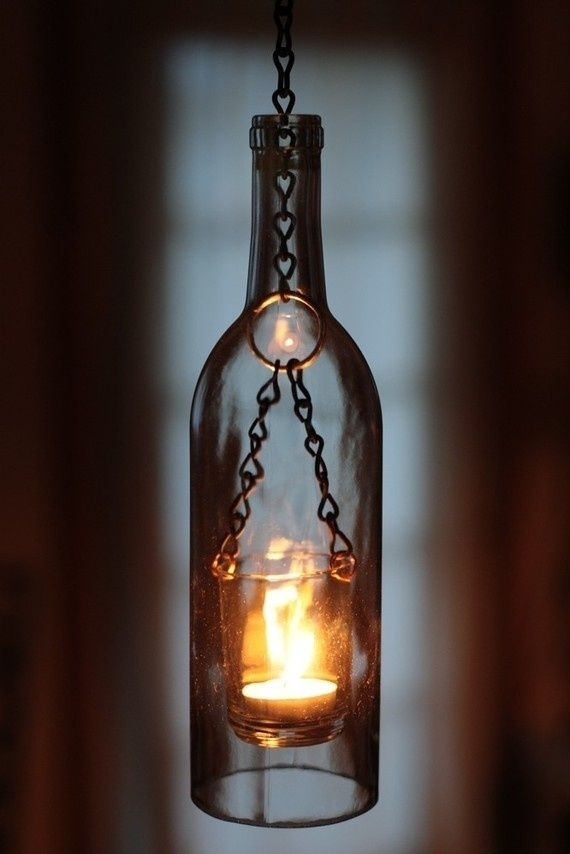 Inspiration about Diy  Wine Bottle Lantern Outdoor Stuff I Love This | Outdoorsey Within Outdoor Empty Lanterns (#4 of 15)