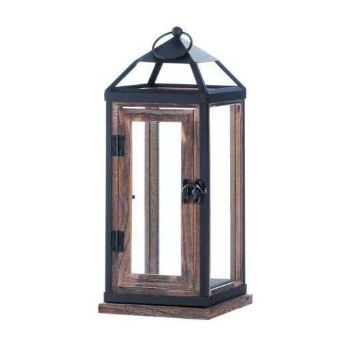 Dropshipping Candle Lantern, Wooden Trim Contemporary Holder Outdoor For Outdoor Metal Lanterns For Candles (View 6 of 15)