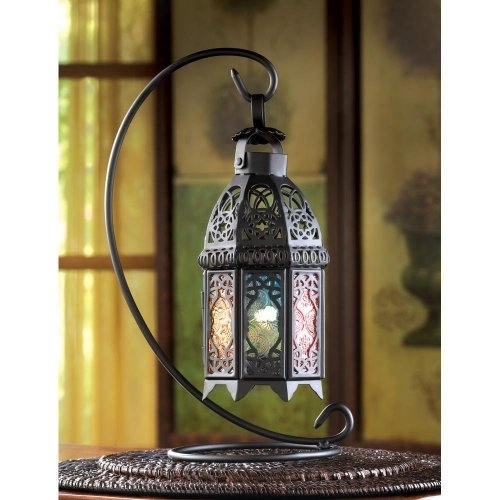 Dropshipping Glass Lantern, Rainbow Moroccan Iron Glass Outdoor Inside Outdoor Standing Lanterns (View 3 of 15)