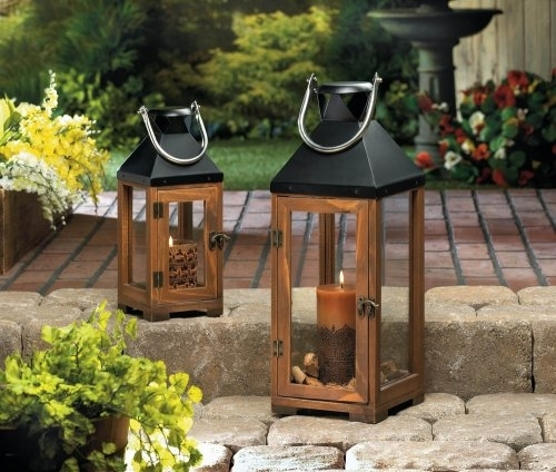 Dropshipping Wood Lantern Candle Holder, Wooden Small Antique Candle Intended For Outdoor Wood Lanterns (#6 of 15)