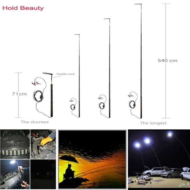Inspiration about Dual Headlights 12V 24W Led 5.4M Telescopic Fishing Rod Remote With Regard To Outdoor Lanterns With Remote Control (#4 of 15)