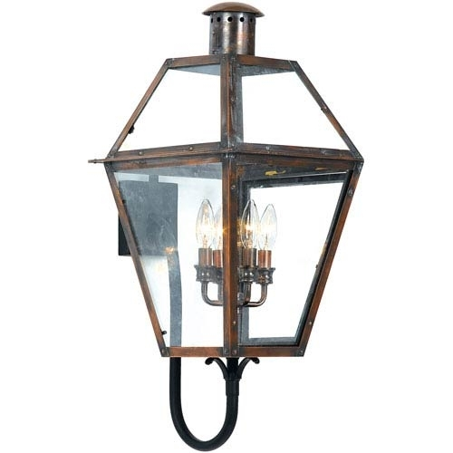 Early American Outdoor Wall Lighting Free Shipping | Bellacor For Large Outdoor Wall Lanterns (View 12 of 15)
